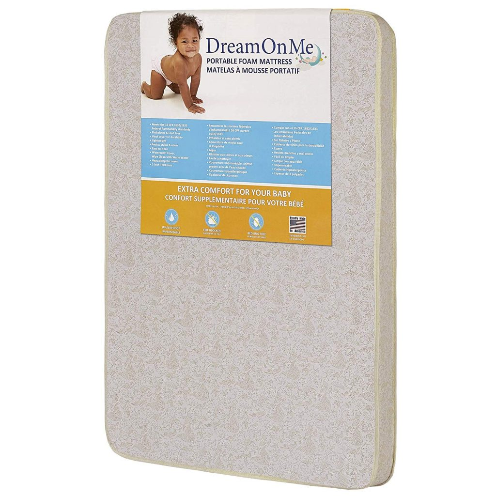 The best review of the mattress for baby crib from the Dream On Me
