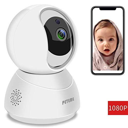 BEST WIDE ANGLE — Peteme Baby Monitor 1080P FHD