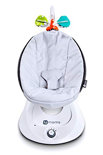 ★ Best Features ★ 4moms rockaRoo Baby Swing   Compact Baby Rocker with Front to Back Gliding Motion   5 speeds   3-point harness   Smooth, Nylon Fabric