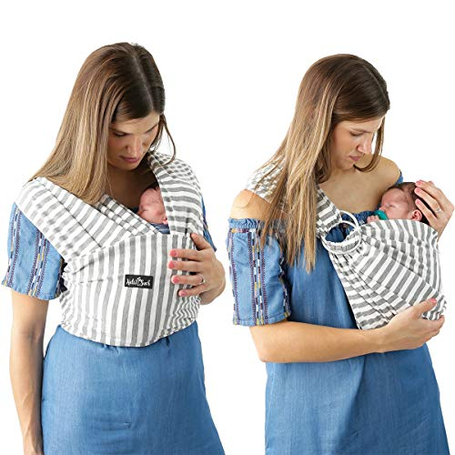 Baby Carrier Wrap and Baby Sling by Kids N' Such | Wrap can be used with or without the rings
