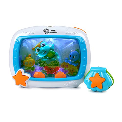 ★ BEST FUNCTIONALITY ★ Baby Einstein Sea Dreams Soother | Adjusts to baby's preferences with light & volume control | Remote control works up to 12' away