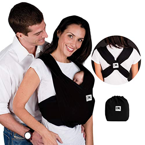 ★ BEST CHOICE ★ Baby K'tan Baby Wrap Carrier | No Rings or Buckles | Carry Newborn up to 35 lbs | 5 positions