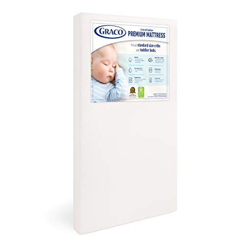 ★ BEST CHOICE ★ Graco Premium Mattress | Water-Resistant, Removable, Washable Outer Cover | Greenguard Gold Certified | 6-Year Limited Warranty
