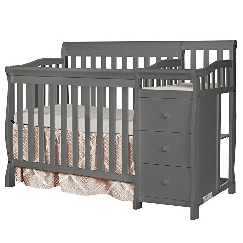 ★ BEST FUNCTIONALITY ★Dream On Me Jayden 4-in-1 | Detachable 3-drawer changing table, equipped with a changing pad and restraining strap | 3-position adjustable mattress