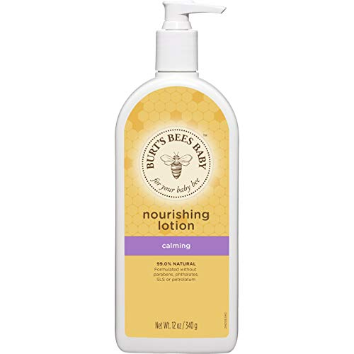 ★ Best Natural Baby Nourishing Lotion ★ Burt's Bees - Calming Nourishing Lotion scented with Lavender & Vanilla | Hypo-allergenic formula safe