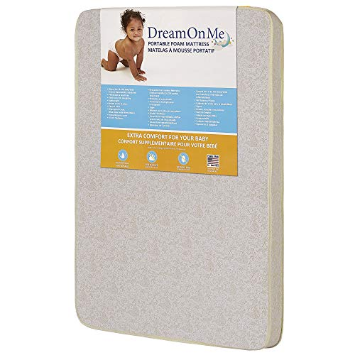 """★ BEST BUDGET★ Dream On Me, 3"""" Foam Pack Mattress 