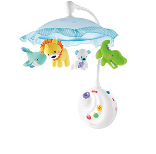 ★ BEST CHOICE ★ Fisher-Price Precious Planet 2-in-1 Projection Mobile | Converts to crib-side music box with ceiling projection | Music & soothing nature
