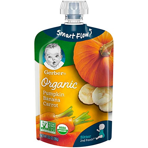★ Top-3 Best Organic Baby Food ★ Gerber Organic   No artificial flavors or colors, no added starch, unsalted   USDA Certified Organic   Non-GMO   Non-BPA