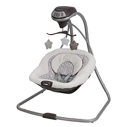 ★ BEST CHOICE ★ Graco Simple Sway Baby Swing   2 Speed Vibration   The deep, plush seat with a removable head