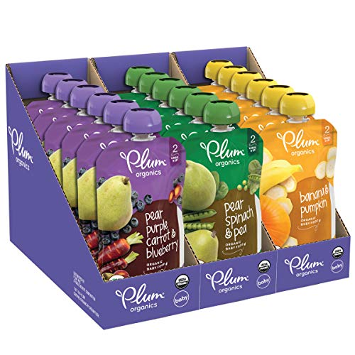 ★ Top-3 Best Organic Baby Food ★ Plum Organics | Made with non-GMO | 2 to 4 grams of fiber | Non-BPA