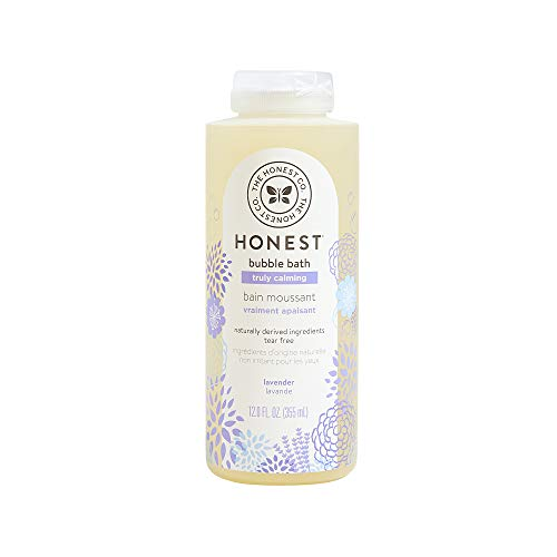 ★ Best Organic Baby Bath ★ The Honest Company - Truly Calming Lavender Bubble Bath   Naturally Derived Ingredients & Essential Oils   Sulfate & Paraben Free