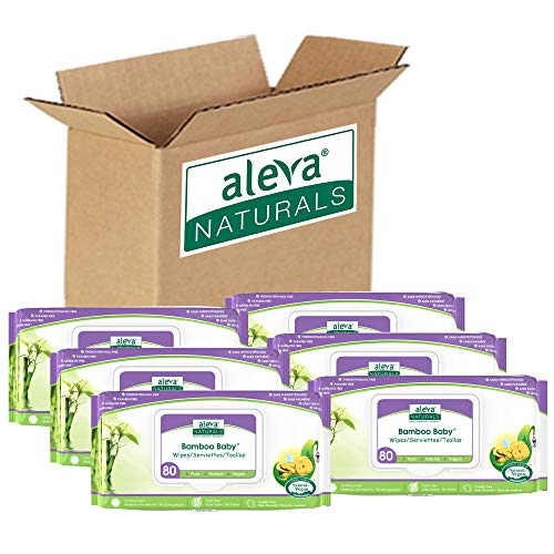 ★ Best organic baby wipes ★ Aleva Naturals Bamboo Baby Wipes | Perfect for Sensitive Skin | Made from 100% Rayon from Bamboo | Free of all harsh chemicals, including parabens, phthalates, phenoxyethanol, chlorine, dyes