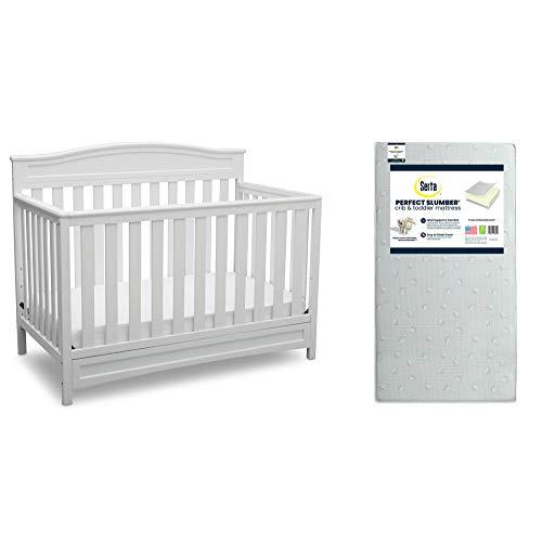 ⭐ BEST CHOICE ⭐ Delta Children Emery 4-in-1 Crib and Toddler Mattress