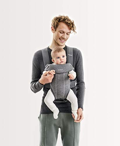 BABYBJÖRN Baby Carrier Mini | Adjustable seat and head support | Cozy and flexible fabrics | Easy-on and off for parents with 2 front-carrying options