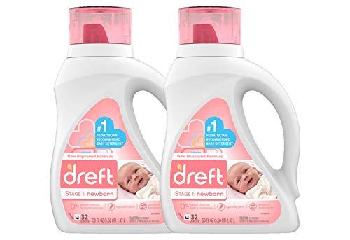 ★ Best Baby Laundry Detergent Natural ★ Dreft Stage 1: Newborn Hypoallergenic Liquid Baby Laundry Detergent | Hypoallergenic | #1 Pediatrician Recommended