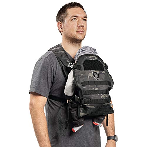★ BEST CHOICE ★ TBG - Mens Tactical Baby Carrier | Meets safety requirements for baby carriers (ASTM and CPSIA) | Made of 600D tactical polyester | UTX buckles 8 to 33 pounds