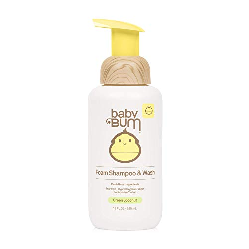★ Best Natural Baby Shampoo ★ Baby Bum Shampoo & Wash | Tear Free Foaming Soap for Sensitive Skin with Nourishing Coconut Oil | Natural Fragrance | Gluten Free and Vegan | 12 FL OZ