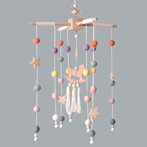 ★ BEST NURSERY DÉCOR ★ Baby Crib Mobile by Giftsfarm | Felt and Bamboo Materials | Made with Love and Handcrafted