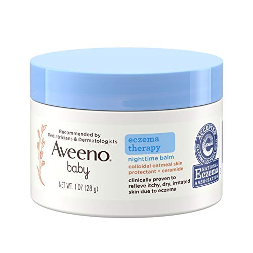 ★ Best sunscreen for babies with eczema ★ Aveeno Baby Eczema Therapy Nighttime Balm with Natural Colloidal Oatmeal for Eczema Relief | Has been awarded the National Eczema Association Seal of Approval and is steroid-, fragrance- and paraben-free