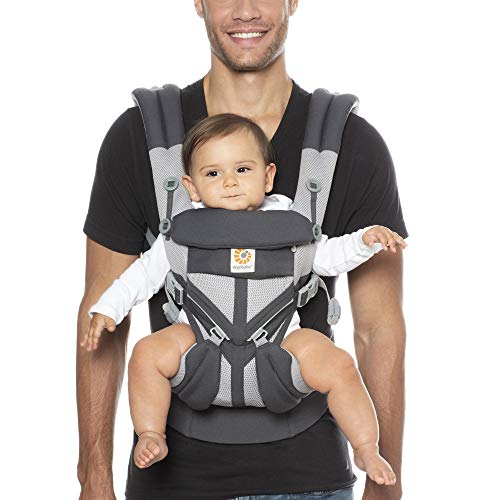 Ergobaby Omni 360 Baby Carrier | fits babies from 7-45lbs, 0-48 Months | UPF 50+ tuck hood | Cool Air Mesh