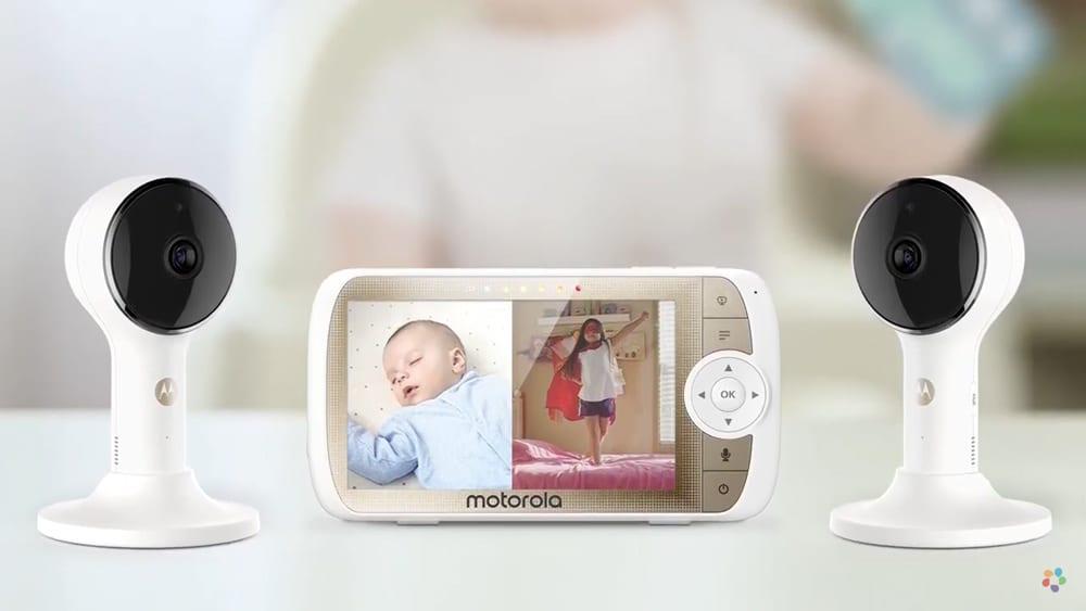 Baby Monitors Wi-Fi split screen baby monitor
