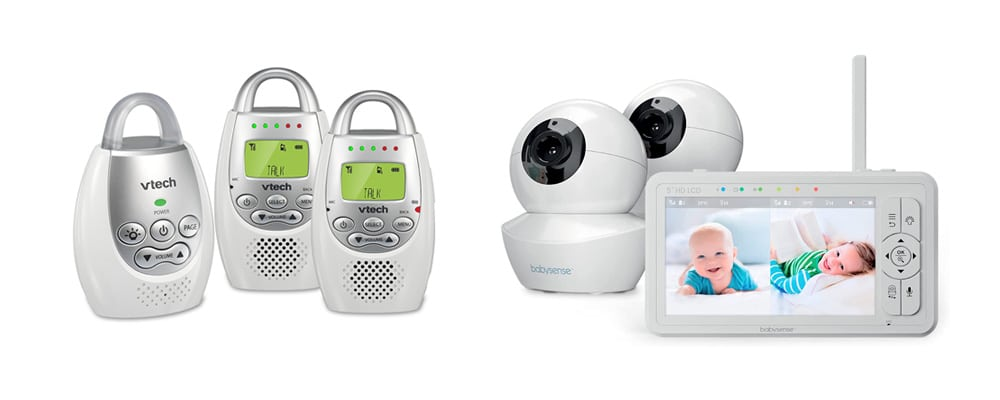audio or video monitor for twins